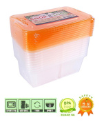 Cook N Lock Multi Purpose N Rectangle Airtight Container Food Fruit Vegetable Storage Refrigerator Organisation 750ML 2Cell 10EA