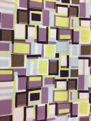 Jane Makower Cotton Dress Fabrics – Geometrics & Lace Stories Crazy Squares Lilac