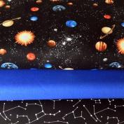 SPACE FABRIC BUNDLE - Planets Stars Constellations - Bundle - BLAFB06 - 3 Fat Quarters each 55 cm x 50 cm - By Blank Textiles - 100% Cotton