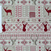 Tapestry Decorative Fabric By the Metre Elk Christmas