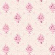FLORAL FABRICS - Damask Pink Cream - Scandi Floral Fabric - TILF96 - By 0.5 metre - By Tilda - 100% Cotton