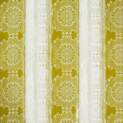Cleavage Fabric Flowers Yellow Grey White Natural 1.55 Wide