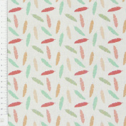 White Feather Cotton Fabric 1.4 m Width Pastels