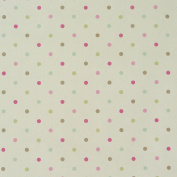 Clarke & Clarke Spots Cream Pink Brown Blue