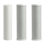 Hydronix RO Reverse Osmosis Replacement Pre Filters Universal Fit, 1 Sediment & 2 Carbon - 3 Pack