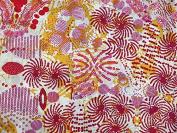 Fireworks Print Cotton Lawn Dress Fabric Pink - per metre