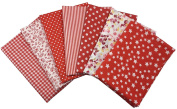 Misscrafts Cotton Fabric Material Piece Square For Patchwork 50*50cm 7pc Assorted Patterns