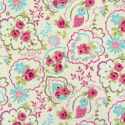 Fabric Cotton Fabric Floral Paisley Pink / White