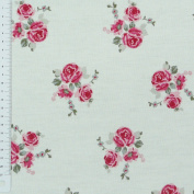 Clarke Clarke & Cotton Fabric Fabric Rose Small, Raspberry