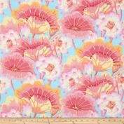 Kaffe Fassett Lake Blossoms Pink- Per Quarter Metre