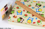 Quality Nursery/Children/Babies 100% Brushed Cotton Fabric (1/2 Metre) —— Cute Colourful Owls & Mushrooms