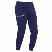 Small Navy Blue Givova Tracksuit Bottoms Track Pants Football Training Running