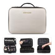BEGIN MAGIC Portable Makeup Train Case / Travel Makeup Bag / Medium Cosmetic Organiser Case with PU Leather (M)
