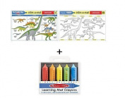 Learning Mat Dinosaur and Crayon Set from Little Folks
