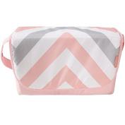 My Babiie Pink Chevron Stripe Changing Bag