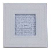 White Wood Sand Effect Square Photo Frame