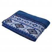 Kyoto Nishikawa Combo blanket - washable fluffy soft sheep style - kilim pattern blue single 140 × 200 2AP5712