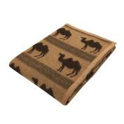 Kyoto Nishikawa natural camel blanket - beige camel pattern single 140 × 200 CMH3002