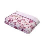 Kyoto Nishikawa heat reflecting insulated blanket - flower pattern pink single 2AJ4129