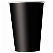 270ml Black Paper Cups, 14ct
