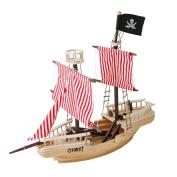 Olymstore 3D 110cm x 60cm x 30cm Large Wooden Puzzle Toy Mini Ship Boat Model Educational Build Jigsaw Toys Hobby Decorative Merchant Ship Boat Model Gift