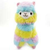 Alpaca Plush Toy, Staron Colourful Rainbow Alpaca Llama Soft Baby Stuffed Animal Plush Puppet Doll Toys Gift for Birthday / Christmas / Valentine's Day / Wedding Anniversary, 18cm