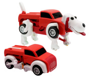 Kids Transforming Dog Vehicle Trunk Car Clockwork Automatic Wind up Toy
