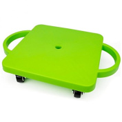 Kids Scooter Board, Green Non-skid Casters Slide Board Kids, With Safety Handles