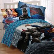 Batman Vs Superman World's Finest Reversible Twin/Full Comforter and Full Sheet Set