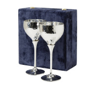 Set Of Two Silver-Plated Goblets With Velvet Box 'Celebration Goblets'