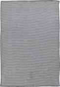 Ibena baby blanket cotton anthracite size 70x100 cm