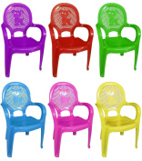 Assorted Colour Stackable Kids Children Plastic Chair Home Picnic Party Nursery Tea School 30kg Furniture Garden Clubs Seat