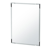Gatco 1528 Flush Mount Framed Rectangle Mirror, 80cm H, Chrome