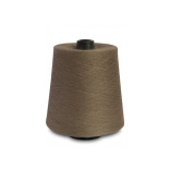 Flaxen Europe 100% Linen Yarn Cone - 2.700 metres - 12x12x16 cm - 0,5 KG (1 LBS) - Twisted from 3 PLY - Beige Grey - Pure Flax Thread For Hand and Machine Sewing, Weaving, Crochet, Embroidering