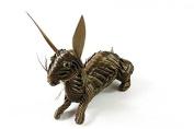 Model Rabbit Toy Rabbit Natural Crafts Novelty Ornaments Special Gift Folk Culture