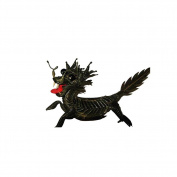 Kirin Animal Weaving Decoration Unique ChinaThe Traditional Process Legendary Grass Handicrafts