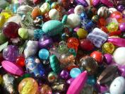 200g Mixed Job Lots of Glass Acrylic and Semi-Precious 200+ Beads