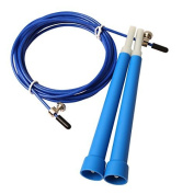J*myi 3 Metres Metal Bearing Skipping Rope Speed Cable Jump Rope Crossfit Mma Box Home Gym Sports Accessories Blue