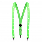 LED Suspenders, Tagvo 25mm Light Up LED Trouser Braces Y Shape Suspenders with 3 Strong Clips for Party Favour /Outdoor Activities -- Unisex, Adjustable Strap to Fit for Most