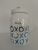 Rae Dunn Valentine's Day SWEETS XOXO Canister Blue