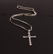 KOTiger Fashion Stainless Steel Vin Diesel Style Cross Fast Five Inspired Necklace Gift