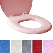 Medipaq Toilet Seat Cover - Super Warm Fleece - Metal Retaining Ring - Universal Fit - Machine Washable