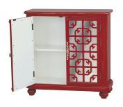 Pulaski Tatum Door Chest, 37 by 41cm by 80cm , Red
