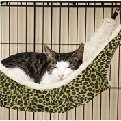 OCSOSO Cat Kitten Pet Cage Hammock With Stand Large Leopard