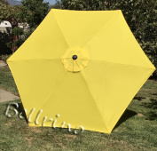 """BELLRINO DECOR Replacement YELLOW """" STRONG & THICK """" Umbrella Canopy for 2.7m 6 Ribs YELLOW"""