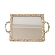 Meda Blooms Gold Resin Mirror Tray