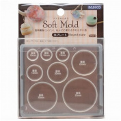 Soft mould for clay circle from Japan