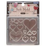 Soft mould for clay heart from Japan