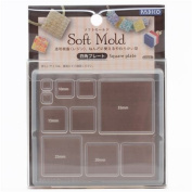 Soft mould for clay square from Japan