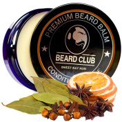 Premium Beard Balm | Sweet Bay Rum | The Best Beard Conditioner & Softener to Shape & Style your Beard, While Stopping Beard Itch & Flakes | Natural & Organic | Great for Hair Care & Growth